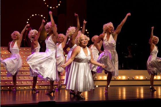 Dancing Marilyns at 'Crazy Christmas 2012'. Photo courtesy of Dream Academy Productions.