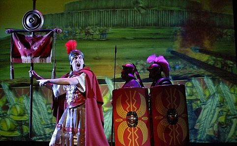 'Horrible Histories: Ruthless Romans' in KidsFest 2013. Photo courtesy of ABA Productions.