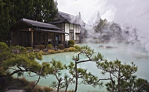 One of the 'Sea Hell' hot springs in Beppu, Japan.