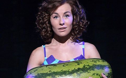 'Baby' carrying a watermelon from Dirty Dancing.