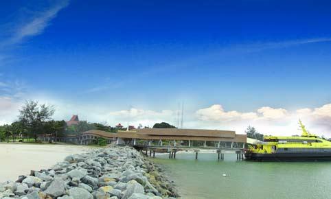 Bintan Lagoon Resort's private ferry terminal. Image courtesy of Mozaic Resorts.