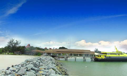 Bintan Lagoon Resort's private ferry terminal. Image courtesy of Mozaic Resorts.