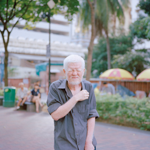 Nguan: 'He is an albino so he appears to have some difficulty fully opening his eyes in the light.' Image courtesy of the artist.
