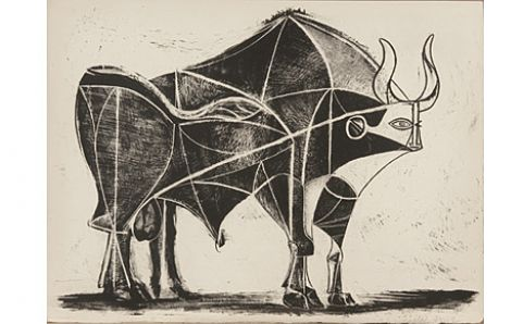 An image from Picasso's 'The Bull' series. Image courtesy of STPI Gallery.