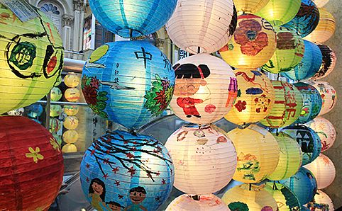 Mid-autumn lanterns in Chinatown.