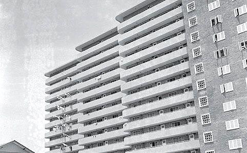 Old photo of Block 39 Princess Estate - aka Forfar House.