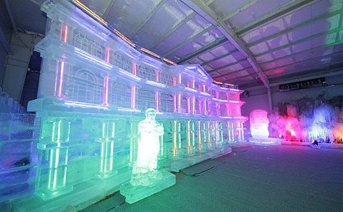Welcome to a winter wonderland. And yes, it's bloody freezing! Image courtesy of 2Degree Ice Art.