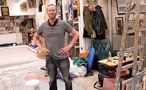 Dutch artist Leon Keer in his studio. Image courtesy of the artist.