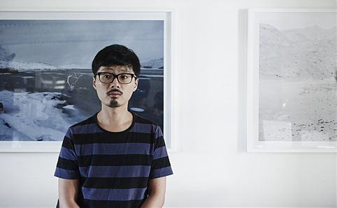 Robert Zhao Renhui in his studio. Image courtesy of Morven Koh.