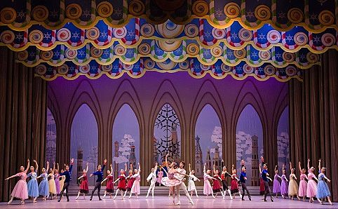 A scene from Act II of 'The Nutcracker'. Image courtesy of Singapore Dance Theatre.